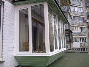 Ремонт балкона с расширением